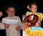 Felipe Rueda - Samara Concho - Casanare, segundo lugar infantil categoria A.